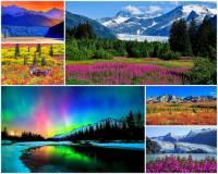 K nejkrásnějším místům světa se řadí i to na fotografii č.4. Na území kterého státu/kraje se toto místo s překrásnými přírodními scenériemi rozkládá?  (náhled)