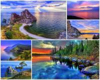 K nejkrásnějším místům naší planety patří i jezero na fotografii č.8, které je pro svoji unikátnost zapsané i na seznamu přírodního a kulturního světového dědictví UNESCO. Jak se jezero jmenuje? (náhled)