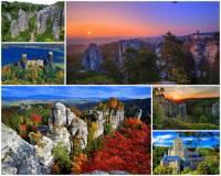 Jak se jmenuje jedno z nejkrásnějších míst světa a jedno z turisticky nejatraktivnějších území v ČR na fotografii č.1, ve kterém je mnoho přírodních a historických památek? Pro své unikátní přírodní i kulturní bohatství je i nejstarší chráněnou krajinnou oblastí v ČR. (náhled)
