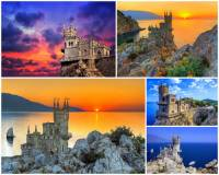 K nejkrásnějším místům světa patří i letovisko s pohádkovou stavbou na okraji skalního útesu na fotografii č.15. Jak se stavba jmenuje? (náhled)