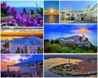 Jak se jmenuje poloostrov na fotografii č.4, na jehož území jsou četné přístavy, rozsáhlé vinice a olivovníkové plantáže? (náhled)