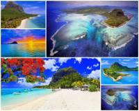Jak se jmenuje původem sopečný ostrov na fotografii č.1, v jehož blízkosti je podvodní vodopád? Na pobřeží jsou písčité pláže s palmami. Celý ostrov je obklopen korálovým útesem. (náhled)