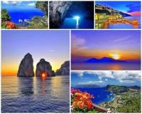 Jak se jmenuje turisticky atraktivní ostrov ležící v zálivu na fotografii č.5? Kromě zdejších letovisek je turisticky oblíbená i Modrá jeskyně (obrázek nahoře uprostřed). (náhled)