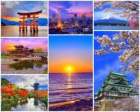 Japonsko je ostrovní stát. Skládá se z několika souostroví a samostatných ostrovů. Který z hlavních japonských ostrovů je na fotografii č.9? (náhled)