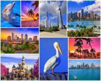 """Jak se jmenuje poloostrov na fotografii č.2, který patří k turisticky nejvyhledávanějším místům oblasti? Nachází se na něm """"stát na křídlech pelikána"""", jak se zemi ležící na poloostrově říká. V 16. století ho objevil španělský mořeplavec, čímž se na více než 300 let stal španělskou kolonií. Převažuje zde teplé klima po celý rok, avšak někdy tuto oblast potrápí hurikány.  (náhled)"""