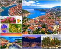 Jak se jmenuje jeden z nejkrásnějších ostrovů nejen v jižní Evropě, ale i na světě, který má nejvíce slunečných dní v roce v celé oblasti? Nejslunnější ostrov na jihu Evropy na fotografii č.1 patří k turisticky nejatraktivnějším místům i proto, že je zde křišťálově čisté moře a překrásné zátoky a pláže. Kvetou zde oleandry, políčka voňavé levandule a pěstují se zde olivovníky a vinná réva. Na ostrově je i mnoho historických památek. Jednou z nejvýznamnějších zdejších památek je 1. veřejné divadlo v renesanční Evropě, které zde bylo otevřeno již v r.1612. (náhled)