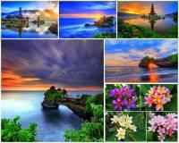 """Jak se jmenuje nejzápadněji ležící ostrov ze souostroví Malé Sundy na fotografii č.8, který tvoří i jeden z vrcholů Korálového trojúhelníku? Ostrov leží jižně od rovníku a nachází se na něm několik aktivních sopek a tisíce chrámů, z nichž velké množství je obklopené vodou, proto se ostrovu také říká """"ostrov bohů a tisíce chrámů. Ostrov patří i mezi turisticky atraktivní destinace pro exotickou dovolenou, neboť kromě kulturních památek nabízí dlouhé písečné pláže s pozvolným vstupem do průzračného moře tyrkysové barvy a překrásné přírodní scenérie s bohatou kvetoucí vegetací. (náhled)"""