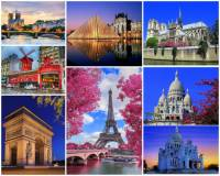 Francouzskou metropoli Paříž na fotografii č.1, která se řadí mezi nejkrásnější města světa, jste jistě poznali. Poznáte ale i nejvýznamnější památky v Paříži? Z uvedených pamětihodností vyberte a označte ty, jejichž obrázek na fotokoláži NENÍ: (náhled)