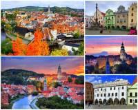 I v ČR je několik měst, která patří mezi nejkrásnější města světa. Jedním z nich je město Český Krumlov na fotografii č.1. Z uvedených údajů o městě vyberte a označte ty, které jsou PRAVDIVÉ: (náhled)
