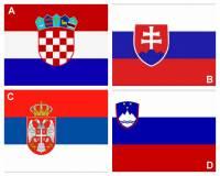 Kterým písmenem je na obrázku č.1 označena vlajka SR? (náhled)